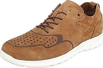 Schnürschuhe Herren Schuhe Oxford Blockabsatz Moderne Schnürsenkel Ital-Design Halbschuhe Camel, Gr 41, 62008-