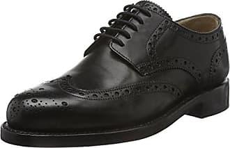 112007-02, Chaussures Derby Homme - Noir - Noir (Schwarz 001), 49.5 EUJ. Briggs