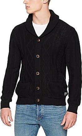 Jjvbranch Knit Cardigan, Gilet Homme, Noir (Black Detail:Knit Fit), X-LargeJack & Jones
