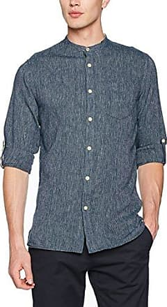 JJVHAMPTON Shirt L/S Utility AUW, Camisa Hombre, Azul (Total Eclipse), Medium Jack & Jones