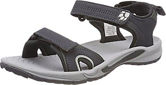 Jack Wolfskin Lakewood Cruise Sandal Schwarz-Grau, Damen Sandale, Größe EU 39.5 - Farbe Ebony Damen Sandale, Ebony, Größe 39.5 - Schwarz-Grau