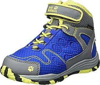 Jack Wolfskin Portland Texapore Mid K, Chaussures de Randonnée Hautes Mixte Enfant - Grau (Burly Yellow XT), 40 EU