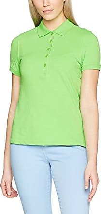 James & Nicholson Ladies Tipping, Polo para Mujer, Verde (Lime-Green/White Lime-Green/White), 42 (Talla del Fabricante: X-Large)