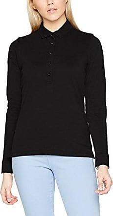 James & Nicholson Ladies Tipping, Polo para Mujer, Negro (Black/Silver Black/Silver), 44 (Talla del Fabricante: XX-Large)