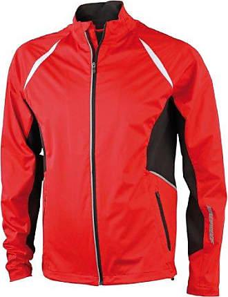 Sports Windproof - Chaqueta de deporte para hombre, tamaño S, color rojo James & Nicholson
