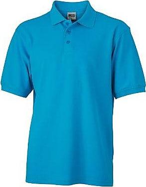 Polo Mens Vintage - Polo, Turquesa (turquoise), Large (Talla del fabricante: Large) James & Nicholson