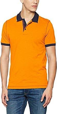 JAMES & NICHOLSON Tipping, Polo Homme, Orange (Orange/White Orange/White), S