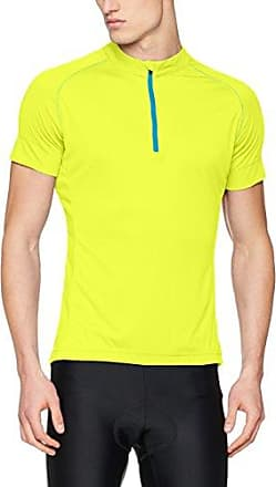 James & Nicholson Ladies Bike-T Full Zip, Camiseta para Mujer, Amarillo (Bright-Yellow/Bright-Blue Bright-Yellow/Bright-Blue), L