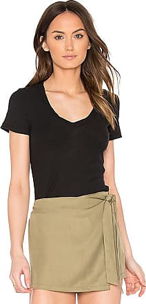 Casual V Neck Tee with Reverse Binding in White. - size 0 (XXS/XS) (also in 1 (XS/S),2 (S/M),3 (M/L)) James Perse