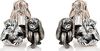 Jan Leslie Mens Three-Wise-Monkeys Cufflinks tkKns8hCL