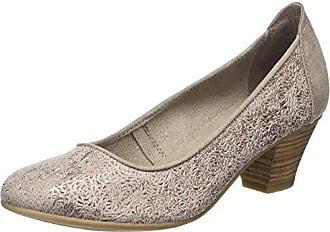 HIRSCHKOGEL 3003422, Zapatos de Tacón con Punta Cerrada para Mujer, Gris (Taupe 066), 39 EU