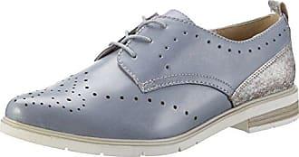 Jana 23640, Oxford Chaussures À Lacets Pour Les Femmes, Bleu (brevet De La Marine), 41 Eu