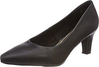 Jane Klain 224 952, Zapatos de Tacón con Punta Cerrada para Mujer, Negro (Black), 39 EU