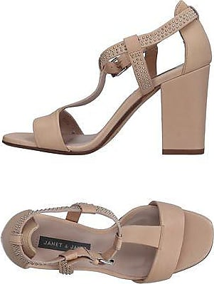 Sandals for Women On Sale, Light Brown, suede, 2017, 2.5 7.5 8.5 Janet & Janet