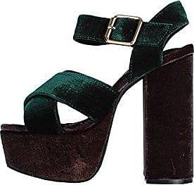 Jeffrey Campbell 16f021, Escarpins à Plateforme Femme, Multicolore (Green/Dark Grey 001), 40 EU
