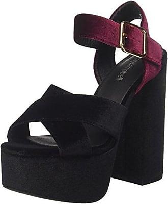 Jeffrey Campbell 16f021, Zapatos con Plataforma para Mujer, Multicolor (Wine/Dark Grey 001), 40 EU