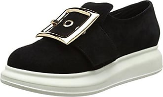Britny Bkl Suede, Zapatos de Cordones Brogue para Mujer, Negro (Nero), 38 EU Jeffrey Campbell