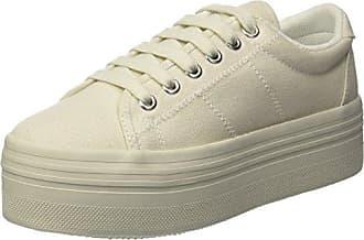 Jeffrey Campbell Jcpzomgcanvas-Whi10, Chaussures de Sport Femme - Blanc - Blanc (White Bnc), 40 EU EU