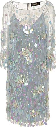 Amur 3/4 Sleeve Sequin Knee Length Dress Jenny Packham RweJWr5