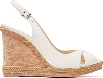 Sandales Compensées à Brides En Cuir Verni Prova 120 - NeutreJimmy Choo London zAMB39