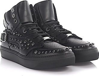 Sneaker high Ruben leather black studs anthracite Jimmy Choo London Online Cheap Quality Cheap Sale Low Price Outlet Sast ZI84slBzi