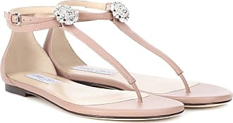 Sandales en cuir à ornements Afia FlatJimmy Choo London 8QiyQ