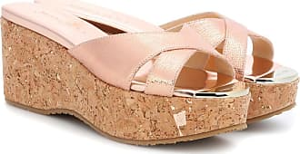 Prima Sandales Compensées En Cuir Choo Londres Jimmy YLiBGk1d2K