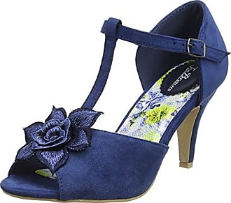 Joe Browns Valentino Strappy Metallic Sandals, Sandalias con Tira de T para Mujer, Azul (Blue Multi a), 42 EU