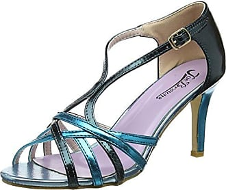 Café Lydia Peep Toe Shoes, Sandalias con Punta Abierta para Mujer, Azul (a-Blue Multi), 37 EU Joe Browns