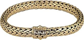 John Hardy Small Classic Chain Gold Bracelet w/ Pave Diamond Clasp, Size M