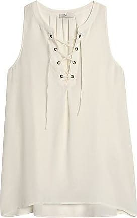 Joie Woman Belleville Corded Lace-trimmed Silk Top Ivory Size L Joie Buy Cheap Manchester Great Sale dCEcba1n