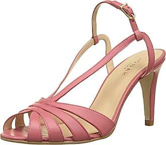 Jonak Daih, Zapatos de Tacón con Punta Abierta para Mujer, Rojo (Rouge 009), 39 EU Jonak