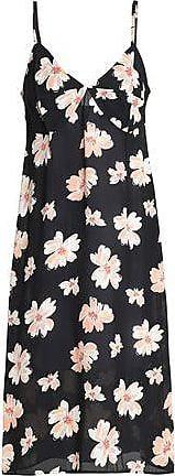 Joseph Woman Floral-print Twill Dress Black Size 40 Joseph vwG7ZcKI