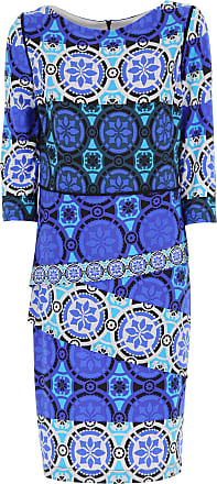 Dress for Women, Evening Cocktail Party On Sale, Blue, polyester, 2017, 10 12 14 Joseph Ribkoff