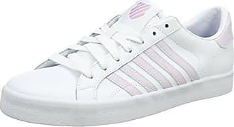 K-Swiss Belmont So, Zapatillas para Mujer, Blanco (White/Blue/Black), 41.5 EU