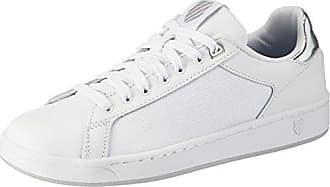K-Swiss Court Frasco, Sneakers Basses Femme, Blanc (White/Silver/Barely Blue), 38 EU