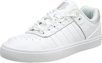 K-Swiss Clean Court CMF, Sneakers Basses Femme, Noir (Wind Chime/White 021), 42 EU