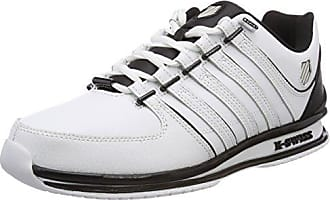 K-Swiss Arvee 1.5, Sneakers Basses Homme, Blanc (White/Silver Cloud/Charcoal), 47 EU