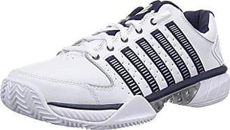 K-Swiss Defier RS, Chaussures de Tennis Homme - Blanc - White (White/Dressblue/Fieryred 164), 45 EUK-Swiss