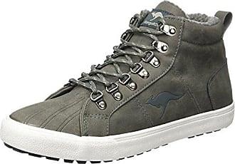Kangaroos 47059 - Zapatillas Altas de Cuero Hombre, Color Azul, Talla 41 EU Kangaroos