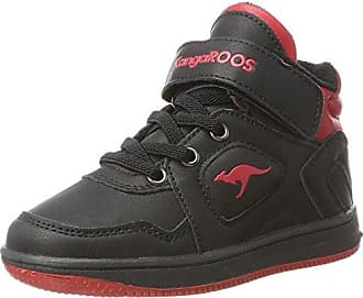 KangaROOS K-lev VII, Sneakers Basses Mixte Enfant - Multicolore - Mehrfarbig (Black/k Red), 32