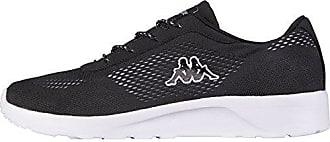 Kappa Delhi Footwear Unisex, Mesh, Sneakers Basses Adulte Mixte - Noir - Schwarz (1110 Black/White), Taille 38