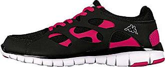 Kappa FOX Footwear unisex, Synthetic/Mesh - Zapatillas de material sintético para mujer negro Black - Schwarz (1122 BLACK/PINK) 36