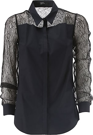 Shirt for Women On Sale, Dark Blue, Cotton, 2017, 26 Karl Lagerfeld