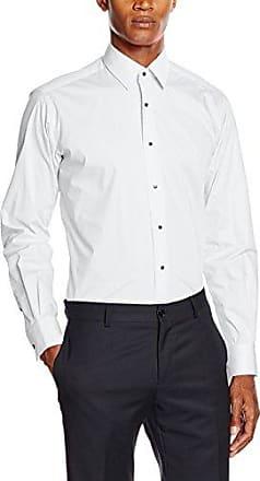 Shirt Ultra, Camisa para Hombre, Blanco (Weiß), Tamaño del Collar: 42 cm (Talla del Fabricante: 42) Karl Lagerfeld