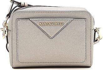 Karl Lagerfeld Sac À Bandoulière Pour Les Femmes, Miroir D'argent Noir, Brevet, 2017, Taille