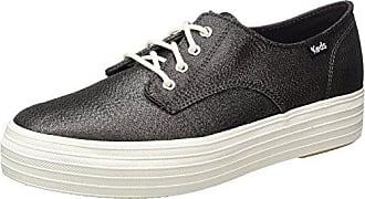 KedsTpl Bella Lurex - Zapatos Planos con Cordones Mujer, Color Plateado, Talla 41