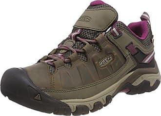 Targhee III Waterproof Mid, Zapatos de High Rise Senderismo para Mujer, Beige (Weiss/Boysenberry 0), 42 EU Keen