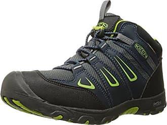 Columbia Garçon, Chaussures de Trail Running, Imperméable, Youth North Plains Mid, Bleu (Cool Moss, Zour), Pointure: 35