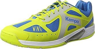 Kempa Wing Lite Women, Chaussures de Handball Femme, Turquoise (Turquoise/Jaune Spring), 44 EU